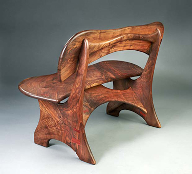 ERIK LINDBERGH: Walnut Bench