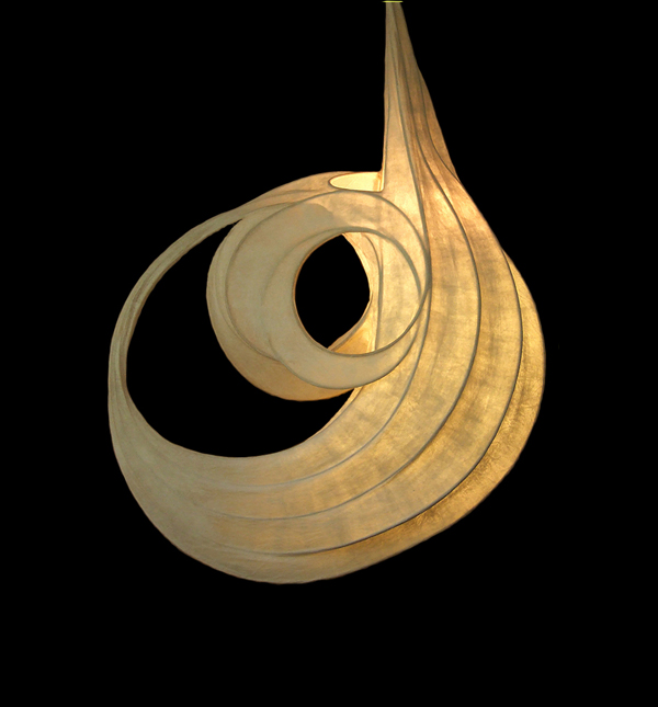 L Wendy Dunder Illuminated Sculpture New Moon The