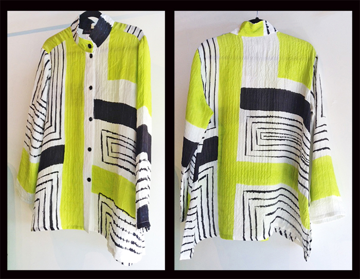 ALEXIS ABRAMS: Black, White & Lime Ava Shirt