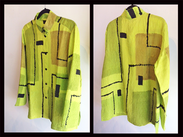 ALEXIS ABRAMS: Lime Modernist Straight Shirt