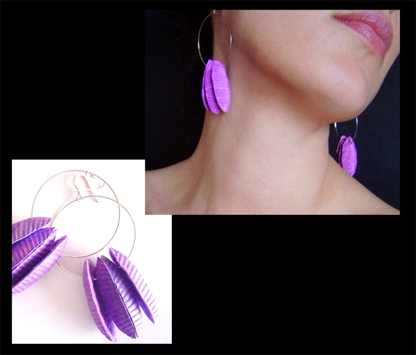 BEGONA RENTERO: Earrings Cairo Purple