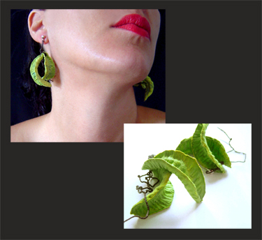 BEGONA RENTERO: Earrings Bride with Two Faces