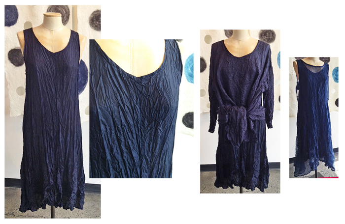 CAROL LEE SHANKS: Four-Panel Dress, Midnight