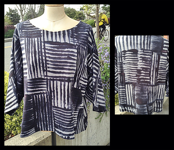 SUSAN EASTMAN: Jersey Top, Striped Squares