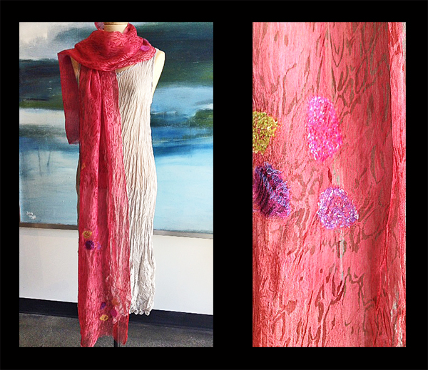 ANA LISA HEDSTROM: Scarf, Rosy Red Silk