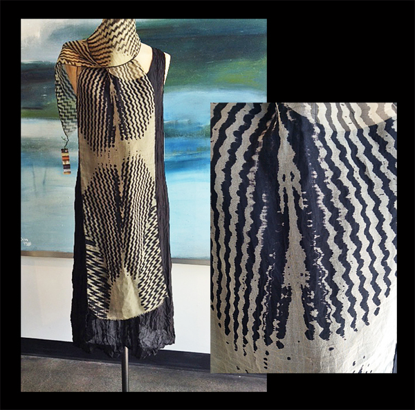 ANA LISA HEDSTROM: Scarf, Black/Cream