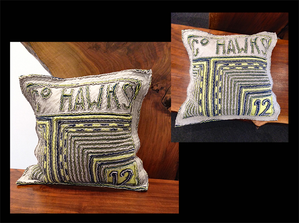 TOM JOHNSON: Go Hawks Pillow