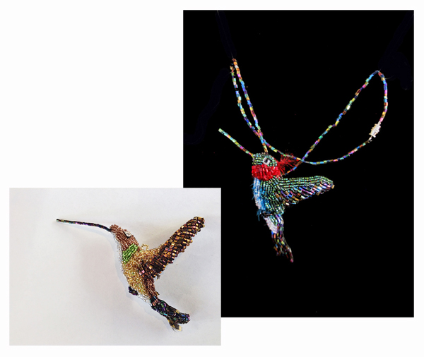 JANET ESSA ELIA: Hummingbird Brooch/Necklace