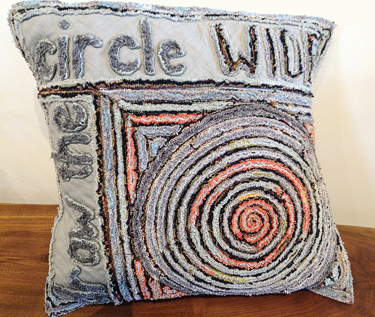 TOM JOHNSON: Grow the Circle Wide Pillow