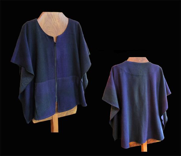 KAY CHAPMAN: Wool Vest, Purple/Black