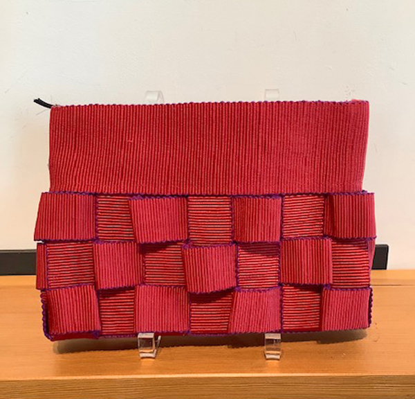 CANDIS E. KRUMMEL: Sculpture Day Clutch, Red