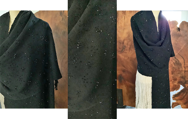CANDIS E. KRUMMEL: Reflections on a Starry Night Stole, Black