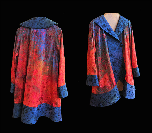 CARTER SMITH: Silk Shibori Opera Coat