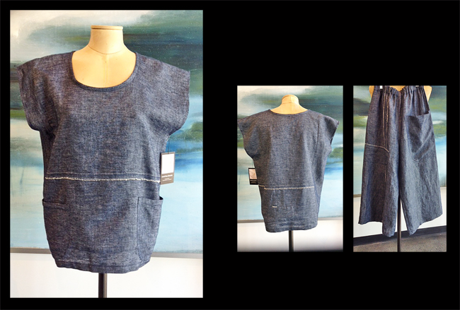 CAROL LEE SHANKS: Chambray Cap Sleeve Top