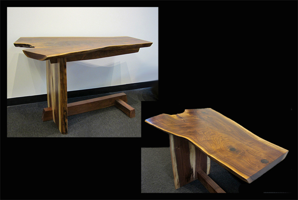 Walnut Live-Edge Desk, Small