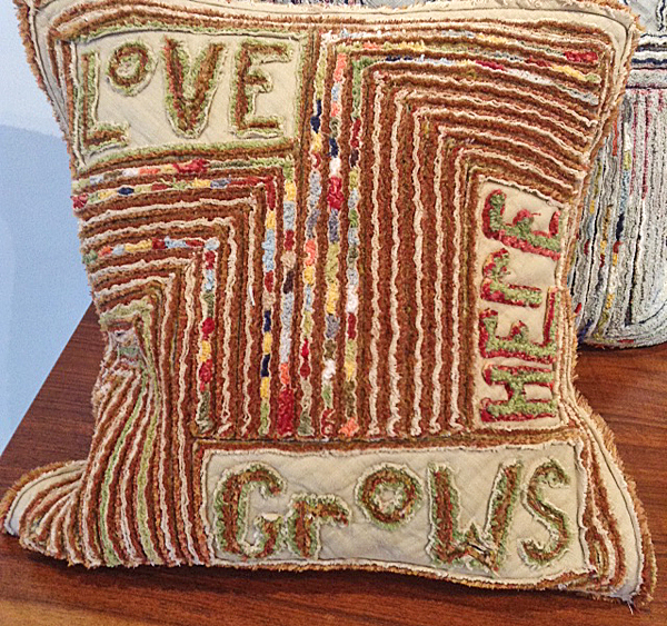 TOM JOHNSON: Love Grows Here Pillow
