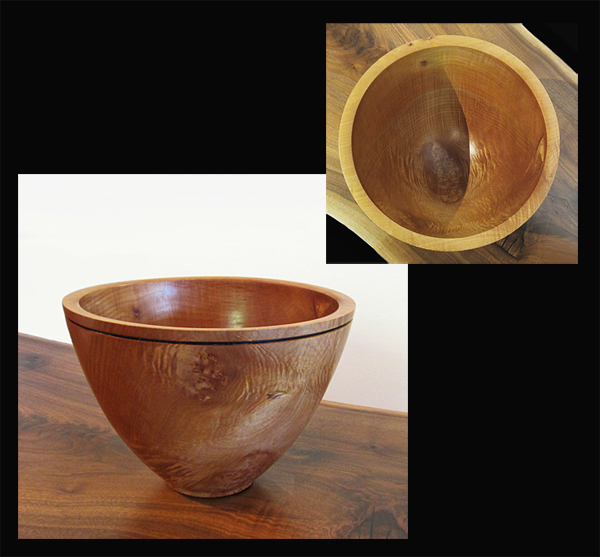 SCOTT TRUMBO: Bowl, Curly Maple