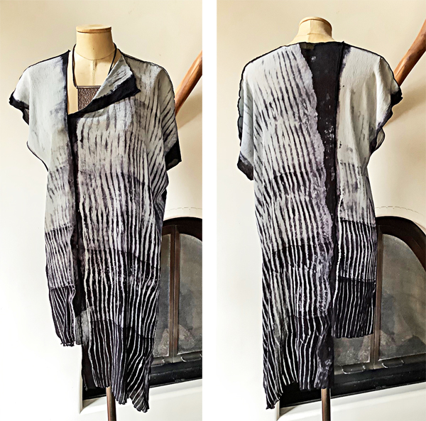 BETSY GIBERSON: NEW, #5: Shibori Tunic, Black/White