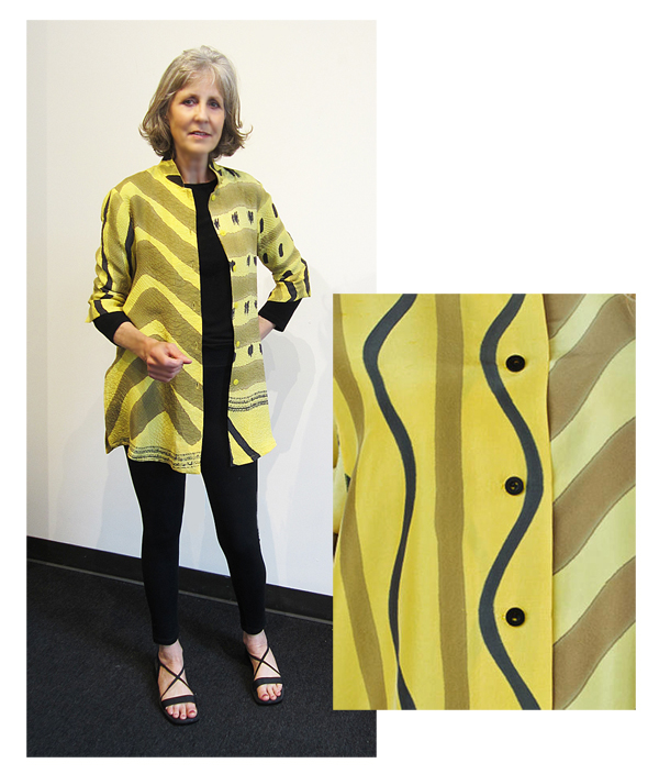 "KAY CHAPMAN: Silk Jacket/Shirt, ""Why Not"""