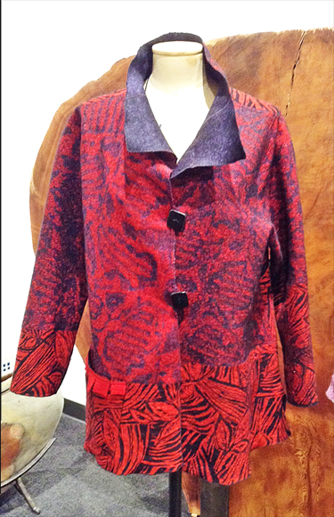 MAGGY PAVLOU: Wool and Silk Jacket, Reds
