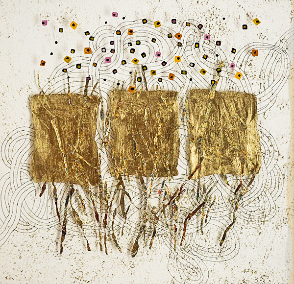 IRENE YESLEY: Gold Leaf Square Dots